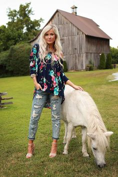 The Parker Tunic in Midnight Fireside Floral