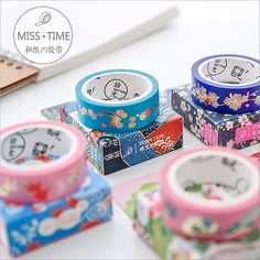 1.5cm*6m Gilding goldfish flowers washi tape diy decoration for scrapbooking masking tape adhesive tape kawaii stationery