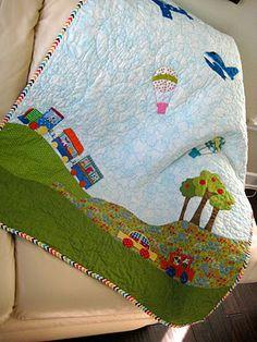 I love this little boy quilt