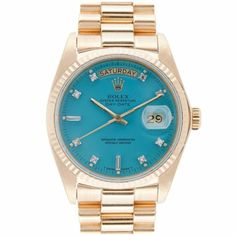 gold  and turquoise rolex. this was made for me!