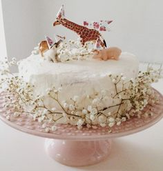 love the party hats on the animals and the baby's breath!
