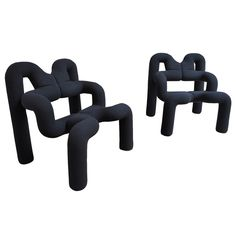 Pair of Ekstrem chair by Terje Ekstrom | From a unique collection of antique and modern lounge chairs at https://www.1stdibs.com/furniture/seating/lounge-chairs/