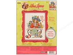 If you have a love for cross stitch, you will love these wonderful Bucilla Cross Stitch Kits. Each kit includes all you need to complete the beautiful picture shown. Counted Alma Lynne Kitty Diva- Dress for a tea party with her fabulous hat, and dont forget all the little kitties also enjoying their tea as they snuggle around Kitty Diva. The stitch size is 7.75x 10.5 and you get 28-count 100% cotton Aida, plastic hoop, cotton embroidery floss, floss separator, needle, tri-lingu…