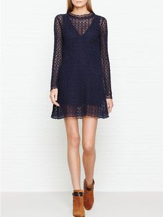 SEE BY CHLOE Lace Mini Dress - NavySize & FitTrue to size - order your usual sizeDesigned to skim the body and flare out at the hipsMini length designModel is 5'10