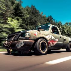 Ford Ranger Truck, Ford Pickup Trucks, Rc Trucks, Mini Trucks, Drift Truck, Bronco Ii, Rat Look, Shop Truck, Auto Design