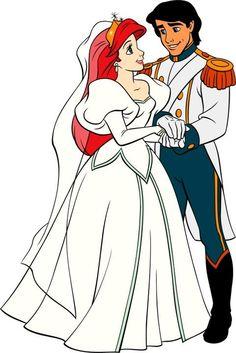 Little Mermaid's Ariel and Prince Eric via www.Facebook.com/pages/Princess-Ariel/220139621335723