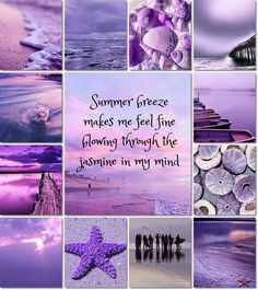 I love that song! And Purple! Purple Love, All Things Purple, Shades Of Purple, Pink, Collages, Beach Please, Mood Colors, Color Collage, Beautiful Collage