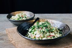"Roasted Cauliflower ""Rice"" Salad with Lemon Tahini Dressing — playin with my food"