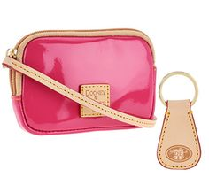 Dooney & Bourke, accessories that come with Patent Leather Satchel, in Bubblegum