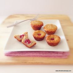 Quick, easy and delicious raspberry muffins. Free from gluten, grains, dairy, nuts and refined sugar. I hope you like them.