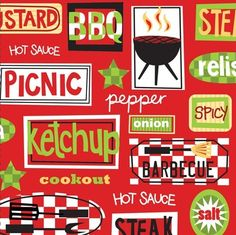 Chill and Grill BBQ Beverage Napkins, BBQ Party Supplies