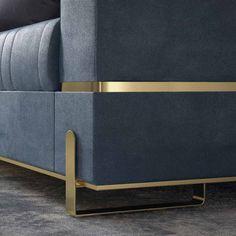 Luxury Designer Contemporary Leather Italian Sofa at Juliettes Interiors.