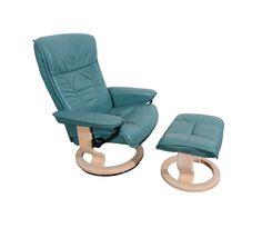 Leather Ekornes Stressless Reclining Chair & Ottoman Norway Danish Modern by HearthsideHome on Etsy