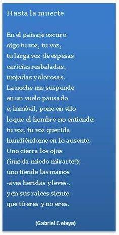 """""""Hasta la muerte"""" poema de Gabriel Celaya"""