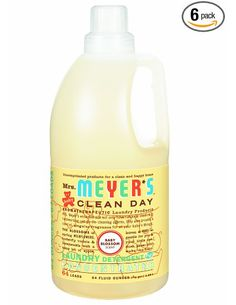 Amazon.com: Mrs. Meyer's Clean Day 2x HE Liquid Laundry Detergent, Baby Blossom, 64-Ounce Bottles (Pack of 6): Health & Personal Care