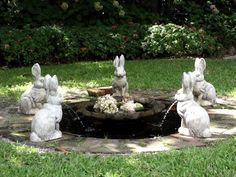 """I don't know if my husband would be happy with me if this was in our yard - I already have a """"few"""" bunnies set around!"""