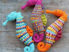 Crochet pattern Seahorse - I do t think I have ever been so tempted to purchase a pattern - look how cute they are!