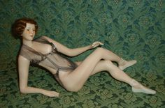 Gorgeous Antique German Bisque Bathing Beauty by Galluba Hofmann