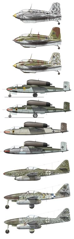 Military Aircraft - Luftwaffe Jets  Me 163 / He 162 / Me 262