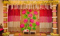 Photo From Home Decor - By Yellow Umbrella Entertainments Reception Stage Decor, Wedding Stage Backdrop, Wedding Backdrop Design, Desi Wedding Decor, Wedding Stage Decorations, Backdrop Decorations, Flower Decorations, Backdrop Ideas, Wall Backdrops