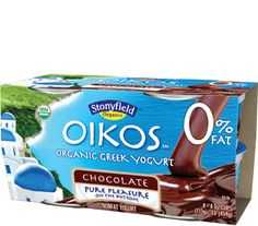 Sometimes you just need chocolate. Oikos organic non fat Greek yogurt comes with chocolate on the bottom - and lots of other creamy, delicious fat-free flavors. Get Healthy, Healthy Life, Healthy Snacks, Healthy Living, Healthy Recipes, Chocolate Greek Yogurt, Organic Yogurt, 200 Calories, Just Desserts