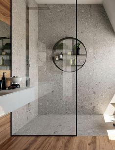 Je douche afwerken met tegels, dat staat prachtig! De Ceppo Di Gre is een keramische variant op de authentieke Italiaanse kalksteen. Dat geeft twéé grote voordelen: de knappe uitstraling én het is onderhoudsvriendelijk! Bezoek onze site en bekijk nog andere badkamerrealisaties.