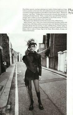 Vogue UK Anglo-Saxon Attitude December 1993 Photographer:Steven Meisel Stylist:Joe McKenna Fashion Editor:Isabella Blow Model:Stella Tennant, Bella Freud, Plum Sykes, Lady Louise Campbell, Honor Fraser