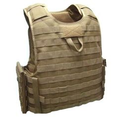 SFG Molle Strike Tactical Plate Carrier Body Armor Vest Coyote Brown Modular