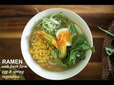 #Ramen with Farm Fresh Egg & Spring Vegetables | Farm to Table Family | PBS Parents - YouTube