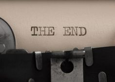 The end title on the typewriter by vesnacvorovic