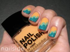 Pretty yellow and blue nails :)