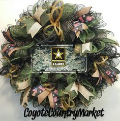 United States Army Mesh Wreath Army Strong by CoyoteCountryMarket