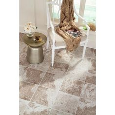 Bring a waterproof luxury floor to your home or working area by choosing this Villa Bronze Grout Line Luxury Vinyl Tile from Islander. Click Flooring, Vinyl Tile Flooring, Grout, Luxury Vinyl Tile, Bronze, Flooring, Porcelain Tile, Home Decor, Vinyl