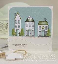 Christmas card using holiday home by Stampin' Up