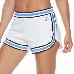 Women's FILA Sport® Knit Tennis Shorts, Size: Medium, White
