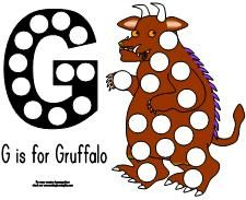 My boys love the Gruffalo and will love this activity with magnets