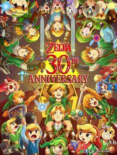 Zelda 30th Anniversary by LinkDoodle on DeviantArt