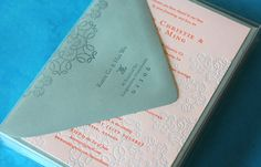 Shadow/texture pattern in lighter ink as background Dingbat Press, Signature Lola : Coral/Teal by Dingbat Press, via Flickr
