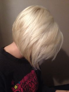 Stacked blonde Bob