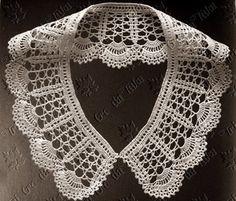 Cuellos a crochet – Peter Pan Crochet Collars – Free Pattern – Patron Gratis Thread Crochet, Crochet Scarves, Crochet Clothes, Crochet Stitches, Crochet Slipper Pattern, Crochet Slippers, Business Dress, Crochet Lace Collar, Collars For Women
