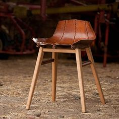Tortie Hoare was awarded the New Designer of the Year prize for her boiled leather furniture