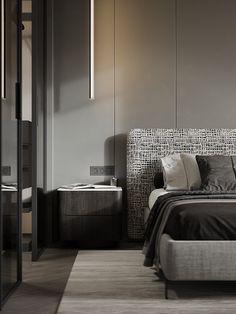 DUSTY GREEN on Behance Bedroom Closet Design, Home Bedroom, Bedroom Decor, Bedrooms, Interior Exterior, Interior Architecture, Interior Design, Apartment Interior, Apartment Design