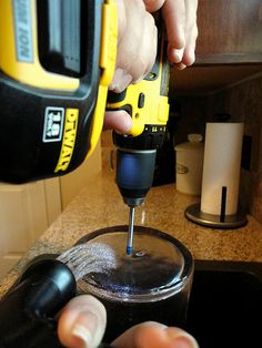 How to drill a hole in glass.