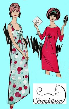 1960s Dress or Maxi Dress Advance 3535 Womens Mod Madmen Low Scooped Neckline Vintage Sewing Pattern 60s era Pattern Size 12 Uncut by sandritocat on Etsy