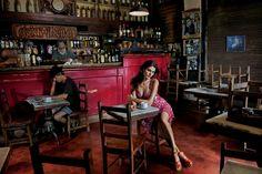 Adriana Lima. Fifty years of the Pirelli Calendar. Photos by Steve McCurry