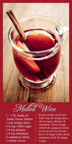 Sutter Home Mulled Wine