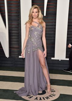 Hailey Clauson was stunning in #AtelierVersace at the Vanity Fair Oscar Party. #VersaceCelebrities