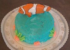 Simple Fish Theme Smash Cake www.cakesbydey.com Check us out on Facebook!