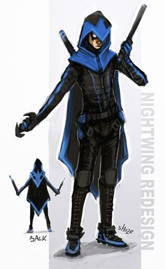 nightwing costume | Costume Closet: Spotlight on Nightwing - News - GeekTyrant--this looks so amazing!! I love the kinda assassin look and detail