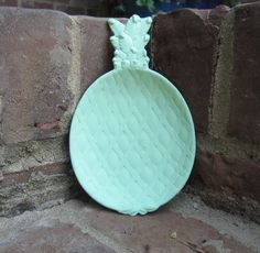 Antique pineapple dish, mixture of old white and Antibes green  Chalk Paint® decorative paint by Annie Sloan